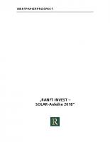 Wertpapierprospekt Ranft-Solar-Anleihe