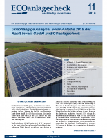 ECOanlagencheck Ranft Solar Anleihe 2018