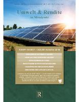 Kurzinformation Ranft-Solar-Anleihe